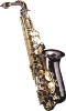 ALTO SAXO - FINITION  CORPS NOIR & CLES OR